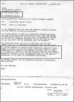 ▲ 포드대통령, 1975년 4월 29일 프리퀸트윈드작전 명령 하달
