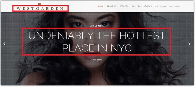 ▲ 웨스트가든 홈페이지에 들어가 보면 누구라도 성매매 업소라는 것을 직감할 수 있다.