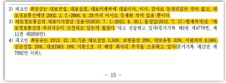 ▲ 2심판결문 최등규 이사등재내역