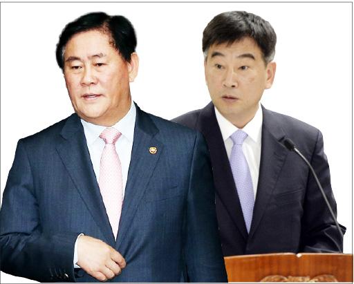 ▲ 최경환 의원(왼쪽), 신임 민정수석에 내정된 최재경 변호사