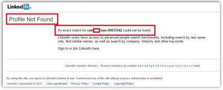 ▲ 반영미 링크드인계정폐쇄 - 구글에는 검색된 링크드인 반영미를 클릭하자 링크드인 반영미 계정이 폐쇄된 상태로 밝혀졌다.