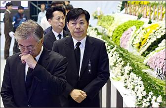 ▲세월호참사 조문하는 문재인 전 더불어민주당 대표