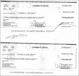 ▲ 이씨부부는 뷰트리관리인에서 해고되기 직전 뉴저지 최씨에게 렌트를 주겠다며 17만5천 달러를 받아서 가로챈 셈이다.