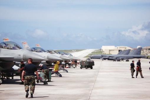 ▲ 미국영토 괌에는 태평양을 지키는 미 최고 공군력 기지가 있다.