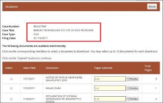 ▲ 바른테크놀리지는 지난 1월 19일 로스앤젤레스카운티지방법원에 김수연에 대한 한국법원의 손해배상승소판결을 인용해 달라는 소송을 제기했다[LA지방법원 웹사이트캡쳐]