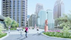 ▲ 센프란시스코 세인트 메리 스퀘어에 설치될 위안부 기림비