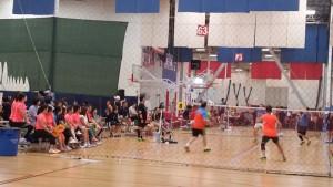 제5회 생활체육 미주베드민턴 회장기 대회 경기모습