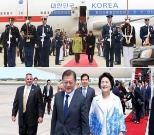 ▲ 2013 박근혜 대통령과 2017 문재인 대통령 방미 모습