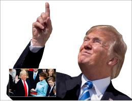 ▲ 도널드 트럼프가 1월 20일 워싱턴 DC 국회의사당에서 취임선서를 통해 미국의 45대 대통령으로 공식 취임했다.