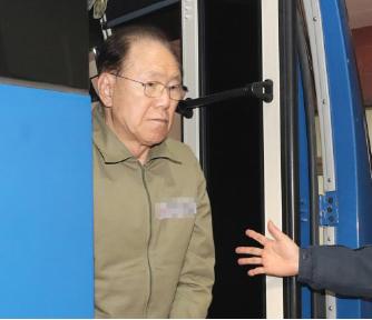 ▲ 국정원 뇌물' 김백준 구속 당일 검찰 소환 조사