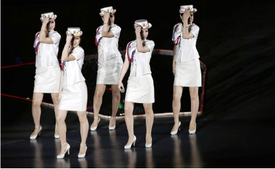▲ 북한판 '걸그룹' 모란봉 악단의 공연모습