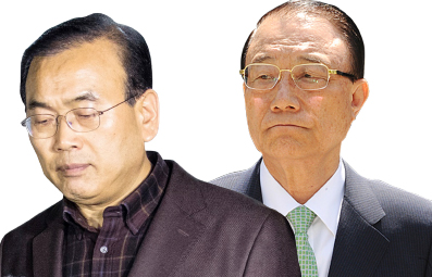 ▲ 박영준 전 지식경제부 차관,  최시중 전 방송통신위원장