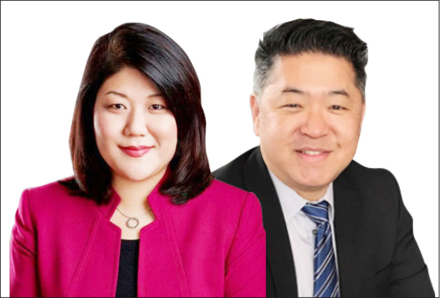 ▲ 타운활동가 그레이스 유(왼편)와 벤박후보