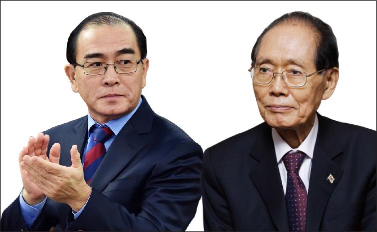 ▲태영호(왼쪽)와 황장엽(오른쪽)