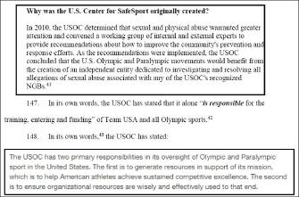 ▲ 미국 올림픽위원회는 체육계 성추행근절을 위해 비영리단체 미국안전스포츠센터를 설립하고, 성추행조사권한을 위임했다.
