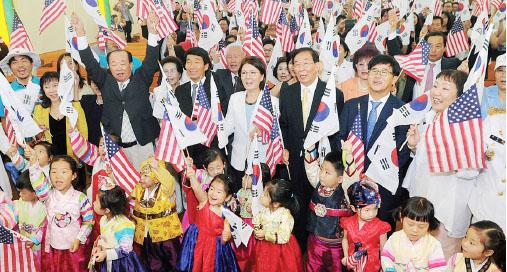 ▲LA한인회는 지난 15일 광복절 경축식을 나성한인연합장로교회에서 주최했다.