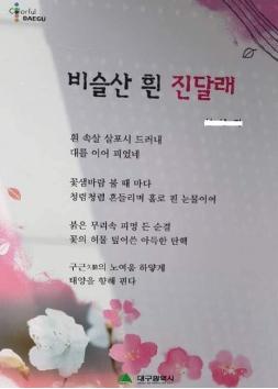 ▲ 지난 4월 대구 달성군 버스 승강장에 박근혜 전 대통령의 탄핵을 안타까워하는 내용의 시가 나붙어 논란이 됐다.