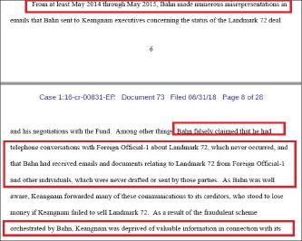 ▲ 연방검찰은 반씨가 경남기업에 랜드마크72 가 곧 매각될 것이라고 지속적으로 속임에 따라 자금난에 처한 경남기업은 제3자를 통한 매각조차 추진해 보지 못했다고 설명했다.