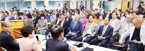 ▲ 남가주한국학원의 윌셔사립학교 폐교 후 대책을 논의한 공청회