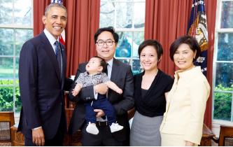 ▲앤디 김 당선자가 오바마 대통령 시절에 찍은 사진.