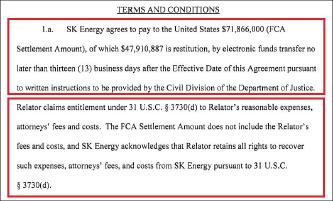▲ GS칼텍스는 연방법원이 최종판결을 내리면 10일이내에 민사배상금 5750만달러를 납부하기로 합의했다.