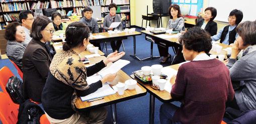 ▲문제가 되고 있는 남가주 한국학원 이사회 모습