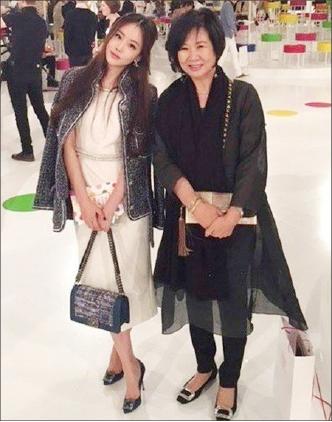 ▲ 손가영씨와 손혜원의원