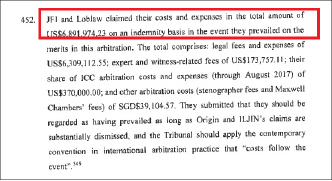 ▲ 조 프레쉬와 로블로우도 중재재판과 관련한 변호사비용등으로 689만여달러를 지출했다고 밝혔다.