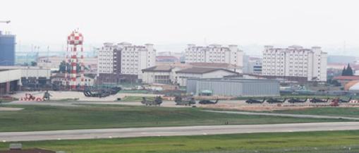 ▲해외에서 최대 미군기지인 한국 평택에 위치한 주한미군기지 사령부