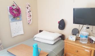▲양로병원의 단촐한 쟈니 윤의 방