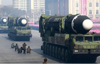 ▲북한의 군사퍼레이드 장면
