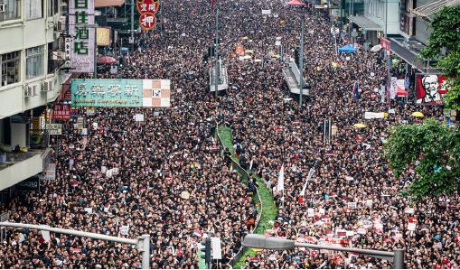 ▲ '홍콩 반환 1997년 이후 최대 민주화 시위에 200여만명이 참가했다.