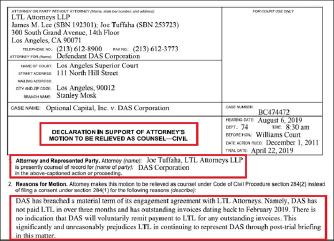 ▲ 다스측 변호인은 지난 2일 다스가 변호사선임계약을 위반하고 지난 2월부터 변호사비용을 지급하지 않았으므로 사임하겠다며 법원의 허가를 요청했다.