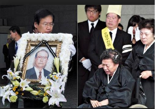 ▲2007년 6월 김성수 오양창업주 장례식