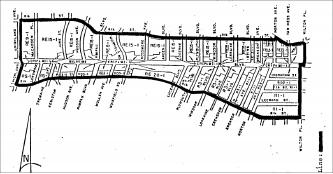 ▲「파크마일」로 규정된 윌셔가 1마일 구간 (윌턴과 하이랜드)