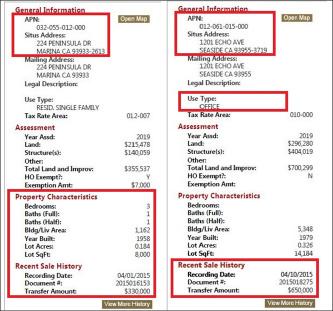 ▲ 몬트레이한인회는 지난 2015년 4월 1일 김동평, 지교남, 지광숙씨가 기증한 주택을 33만달러에 매각한뒤[좌측] 4월 10일 65만달러를 지불하고 현회관을 매입[우측]했다.