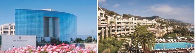 ▲(왼쪽) 산마테오카운티의 포시즌즈 실리콘밸리호텔, ▲ 오렌지카운티의 몬태지라구나비치모텔