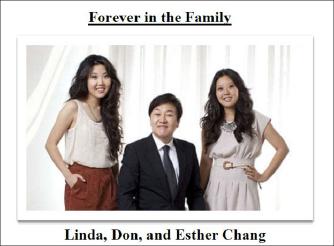 ▲ 포에버21은 파산보호신청서에서 장도원-장진숙부부의 성공스토리와 함께 가족사진도 첨부했다.