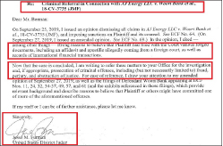 ▲ 제시 퍼맨 연방판사는 지난 11월 8일 제프리 버만 뉴욕남부연방검사장에게 'AJ에너지측이 사기, 위조, 공무집행방해등을 저지른 혐의가 명백하므로 이들 형사범죄에 대한 기소를 요청한다'는 공문을 발송한 것으로 확인됐다.