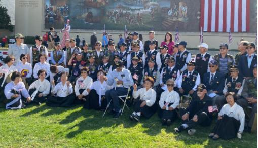 ▲ 11일 베테란스 데이 헐리웃 포레스트런 기념식에 한인 향군단체와 미주 3·1여성 운동 동지회가 참석했다.