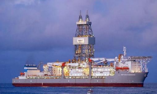 ▲ 삼성중공업이 2011년 5월 프라이드[현 엔스코]에 인도한 석유시추선 엔스코 DS-5호