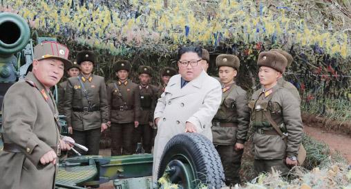 ▲ 김정은이 최근 북한 군부대를 시찰하고 있다.