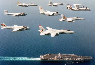 ▲ 북한의도발에 대해  미공군 해군의 전략작전이 진행되고 있다.
