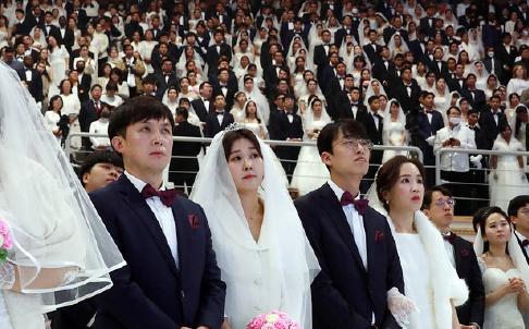 ▲ 지난 7일 세계평화통일가정연합(통일교) 2020 천지인참부모 효정 천주축복식(국제합동결혼식), 천지인참부모 천주 성혼 60주년 기념식을 개최했다.