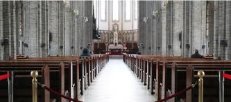 ▲ 한국 천주교 역사상 최초로 미사가 중단된 명동 성당
