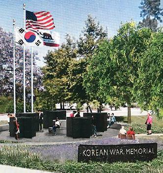 ▲ 오렌지카운티 플러턴시 공원에 건립될 한국 참전용사 기념비 모습