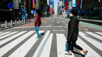 ▲ 뉴욕시 번화가가 코로나로 썰렁하다