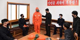 ▲ 코로나가없다고 주장한 북한에서 방역교육이 실시되고 있다.