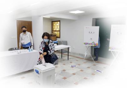 ▲  코로나19로 재외선거 투표도 중단됐다.