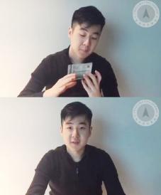 ▲ 암살당한 김정남의 아들 한솔이 유튜브에 나와 자유조선에게 감사하고 있다.